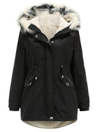 Women's Mid-length Detachable Hood and Detachable Inner Jacket
