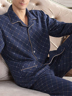 BLUE HOUNDSTOOTH CASUAL SLEEPWEAR & LOUNGEWEAR
