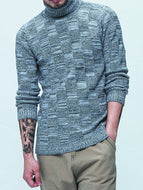 Fashion High Neck Men's Sweater Sweater