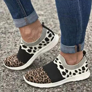Leopard Print Stitching Flat Casual Men's Shoes