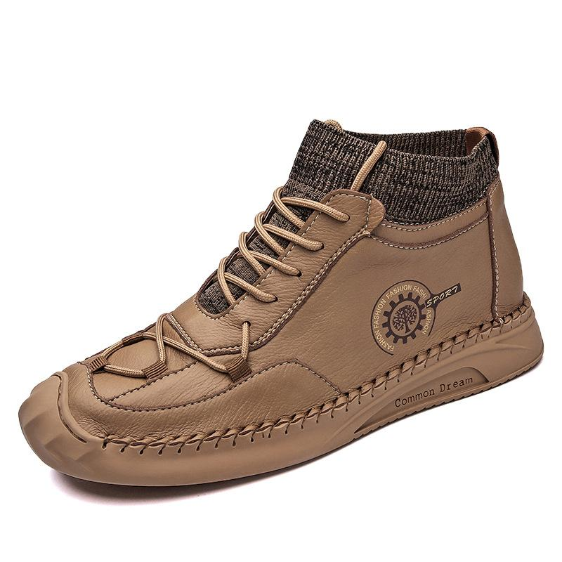 New Summer Breathable Men's High-top Shoes Men's Casual Shoes