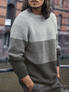 Round Neck Gradient Long-sleeved Sweater
