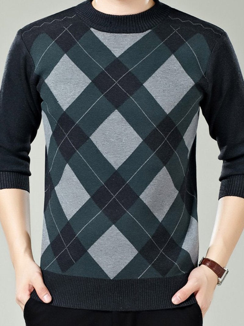 Round Neck Sweater Men Autumn and Winter