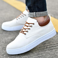 Lace-up All-match Casual Solid Color Men's Low-top Canvas Shoes