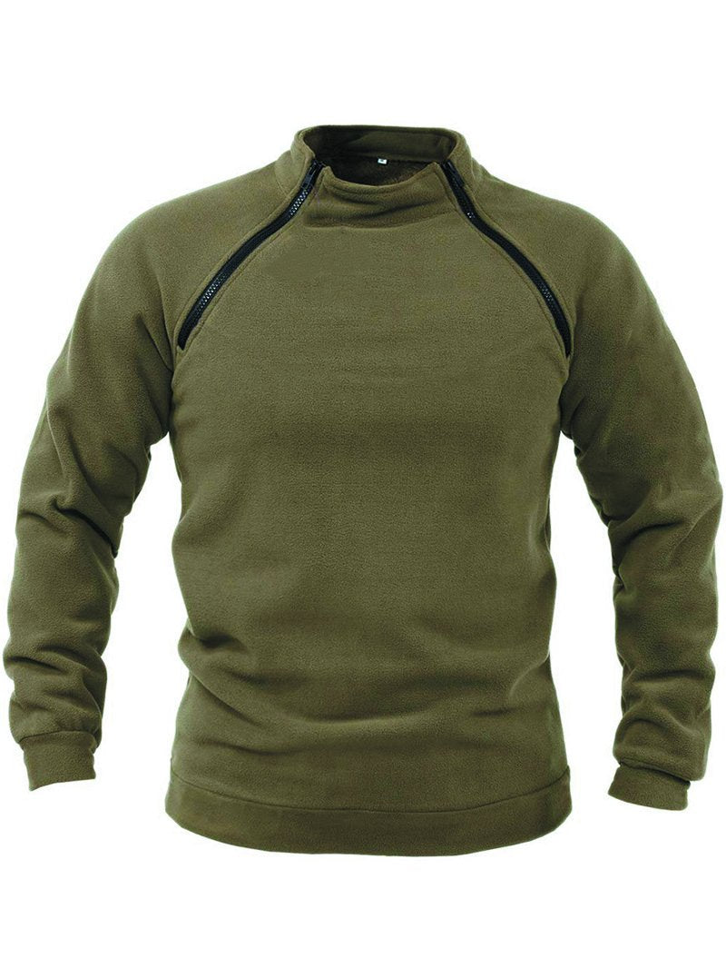 Men's Casual Trend Zipper Pullover Long Sleeve