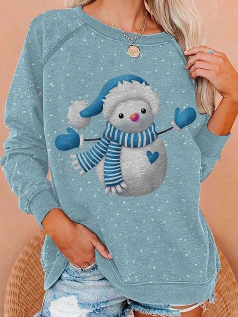Christmas Snowman Long Sleeve Top-2