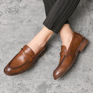 Autumn Winter New British Style Large Size Men's Leather Shoes