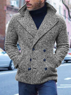 MenS Classic Casual Short Coat Double Breasted Coat