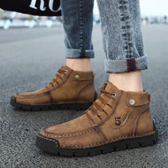 Trendy Men's Boots Fashion Workwear Shoes