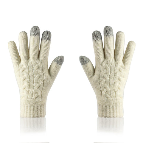 Woolen Cold-proof Thickened Riding Gloves