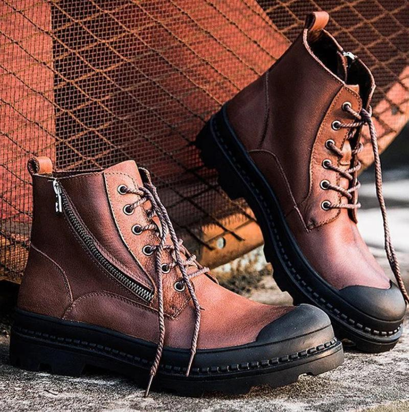 Men's Boots High Top Desert Leather Work Boots