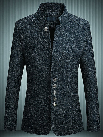 Men's Stand-collar Suit Jacket