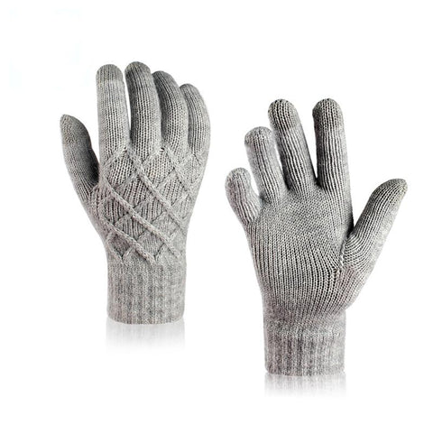 Winter Pineapple Flower Single-layer Five-finger Gloves