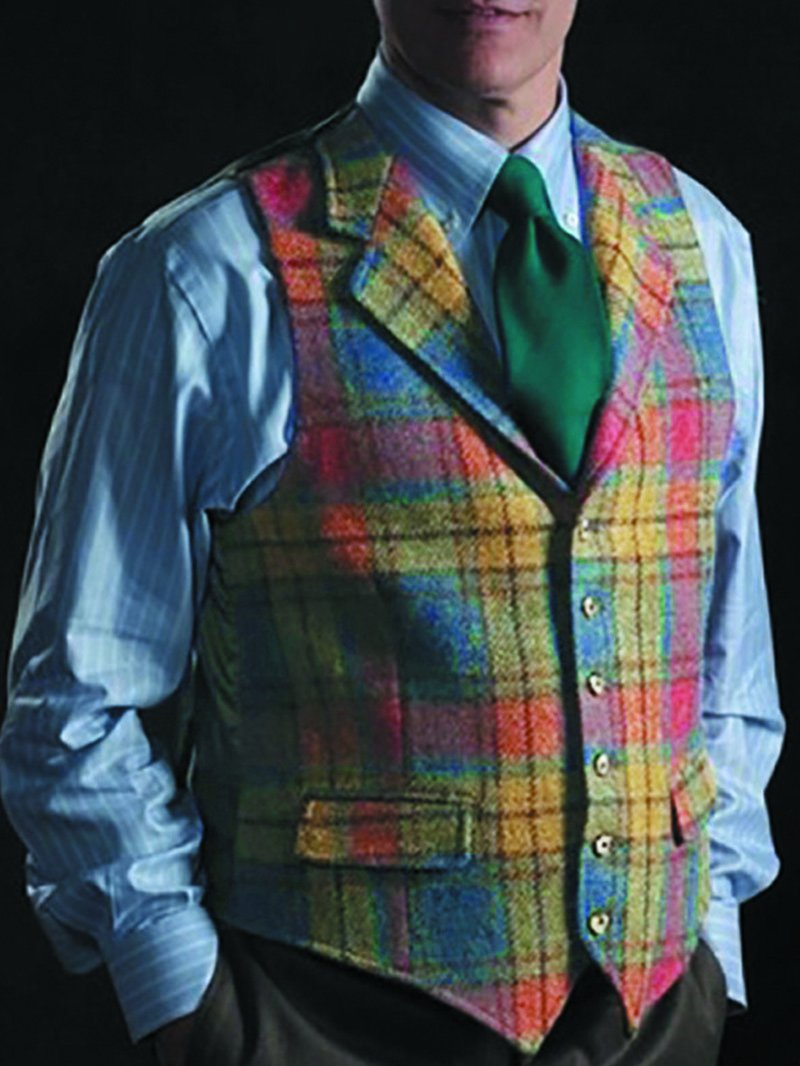 Plaid Slim-fit Casual Suit Single-breasted Vest