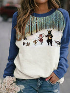 Animal Print Ladies Sweatshirt Tops