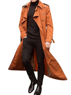 Long Trench Coat Fashionable Casual Jacket