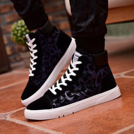 Color Matching Casual Mid-high Trend Breathable Men's Canvas Shoes