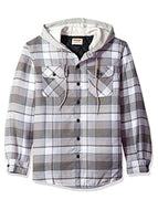 Simple Check Padded Hooded Jacket