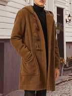 Men's Long Sleeve Fashion Casual Solid Color Cardigan Coat