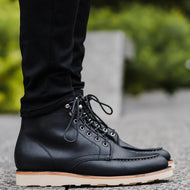 Autumn and Winter Flat Front Lace-up Casual Men's Boots