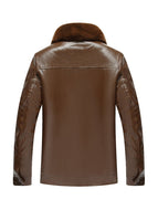 Loose Casual Fur All-in-one Leather Jacket