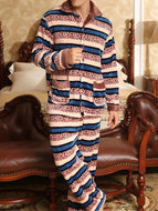 Thicken Plus Fleece Autumn and Winter Flannel Suit