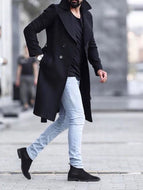 Fashion New Casual Mens Woolen Coat