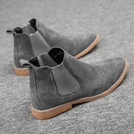 Autumn Winter Casual Frosted Leather British Style Men's Martin Boots