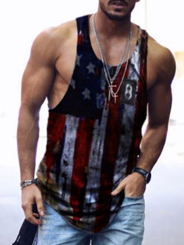 Men's New Fashion Printed Loose Vest