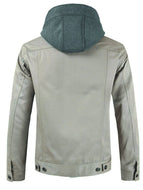 Men's Jacket with Detachable Hood Collar