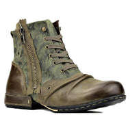 Autumn Winter New Large Size Stitching Zipper Men's Boots