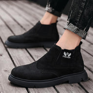 High Top Large Size Booties for Men Fashion Retro