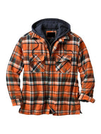 Plaid Fashion Loose Hooded Jacket
