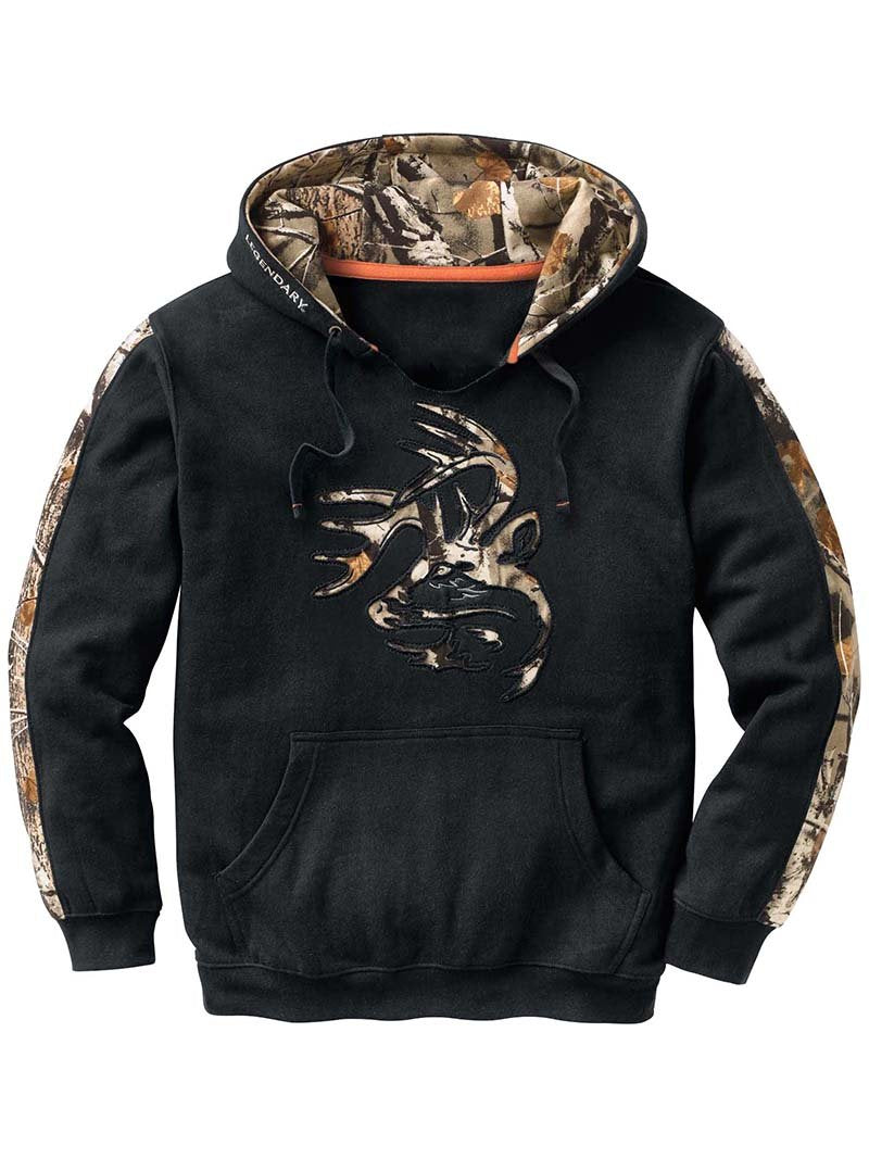 Fashion Hooded Printed Padded Sweatshirt