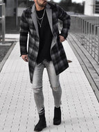 Mens Fashion Check Coat