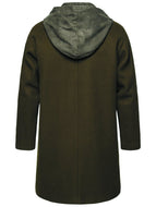 Men's Mid-length Fake Two-piece Woolen Trench Coat