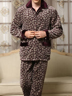 Contrast Printing Autumn and Winter Flannel Suit
