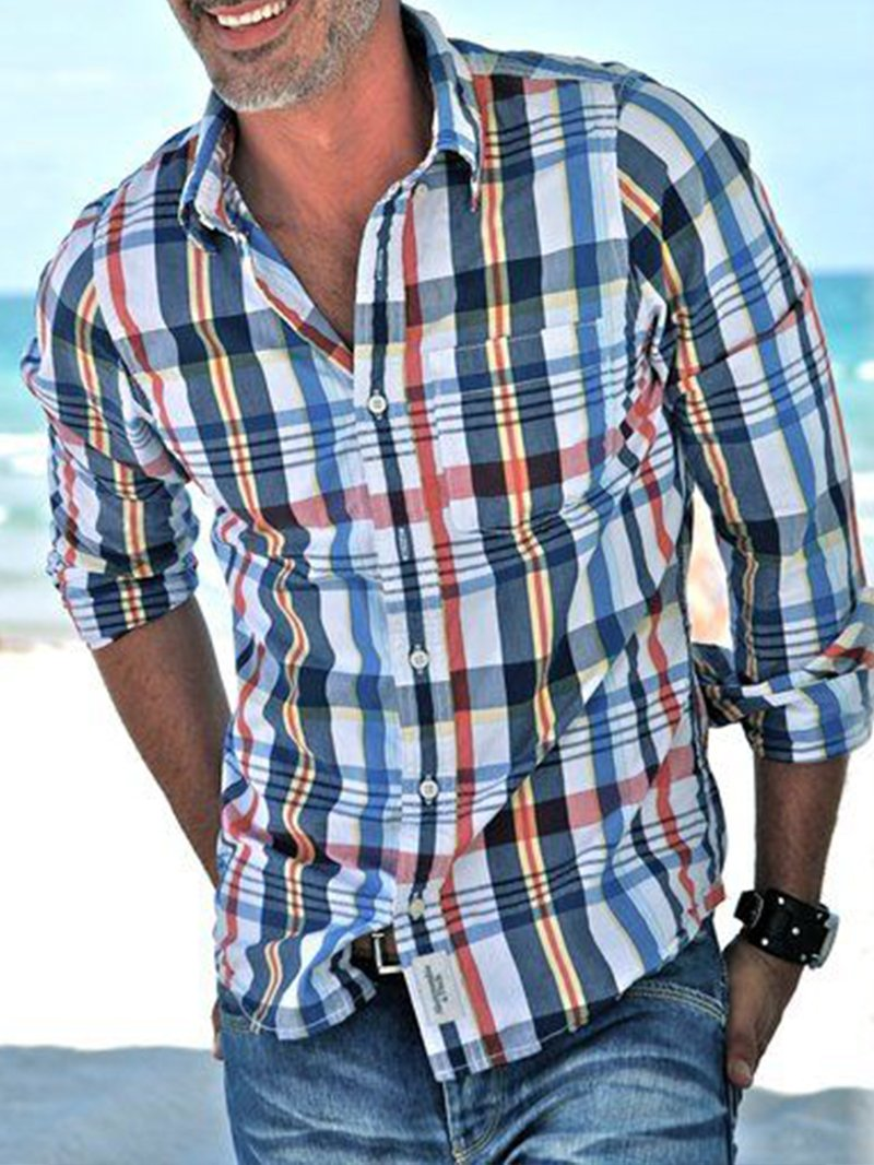 Contrast Classic Check Shirt