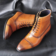 Polished High Top Martin Boots