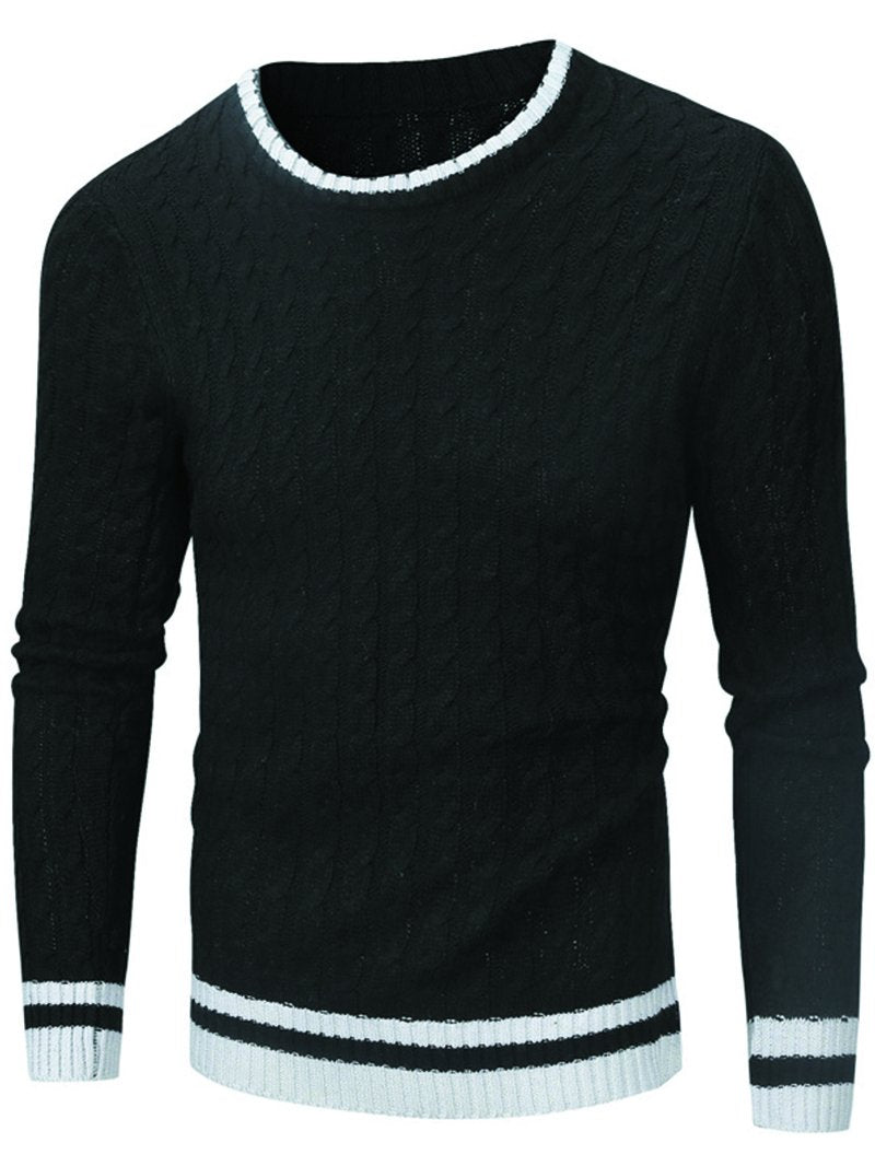 Men's Long Sleeve Multicolor Base Casual Sweater