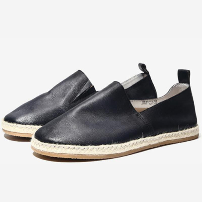 Spring Autumn Soft Leather Flat Men's Shoes