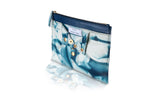 BIANCA LEATHER TROUSER CLUTCH | BLUE TIE DYE
