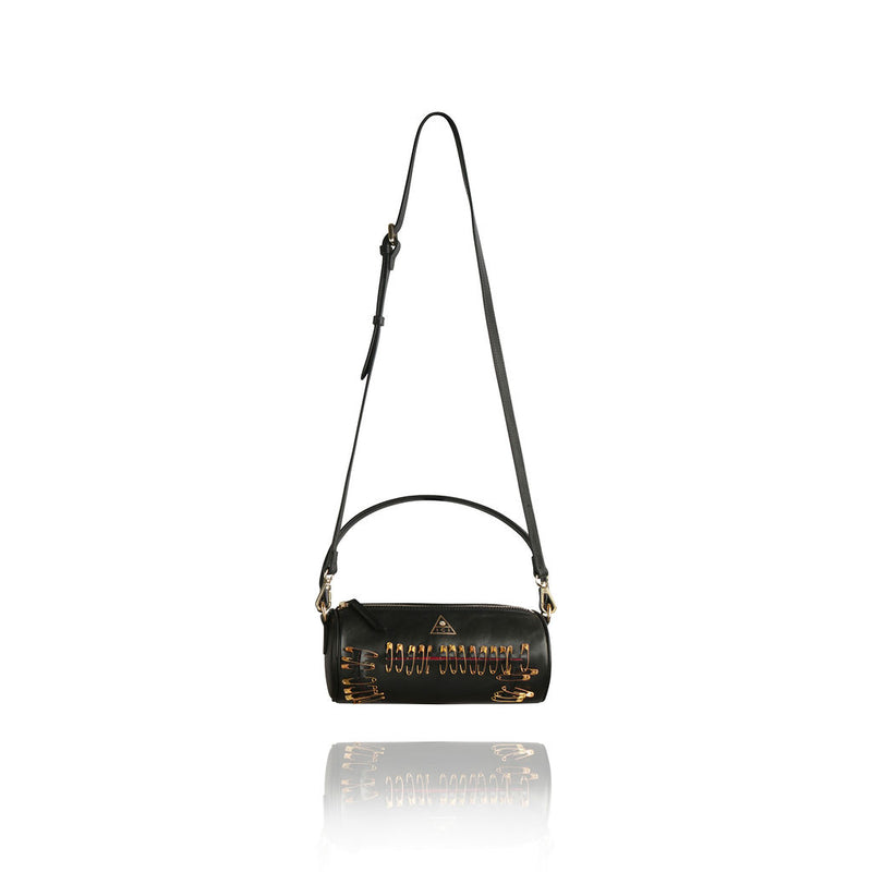 PORTIA PEEKING RED BAG | ONYX BLACK