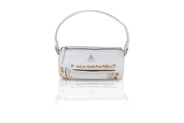 PORTIA PEEKING BLACK BAG | PURE WHITE