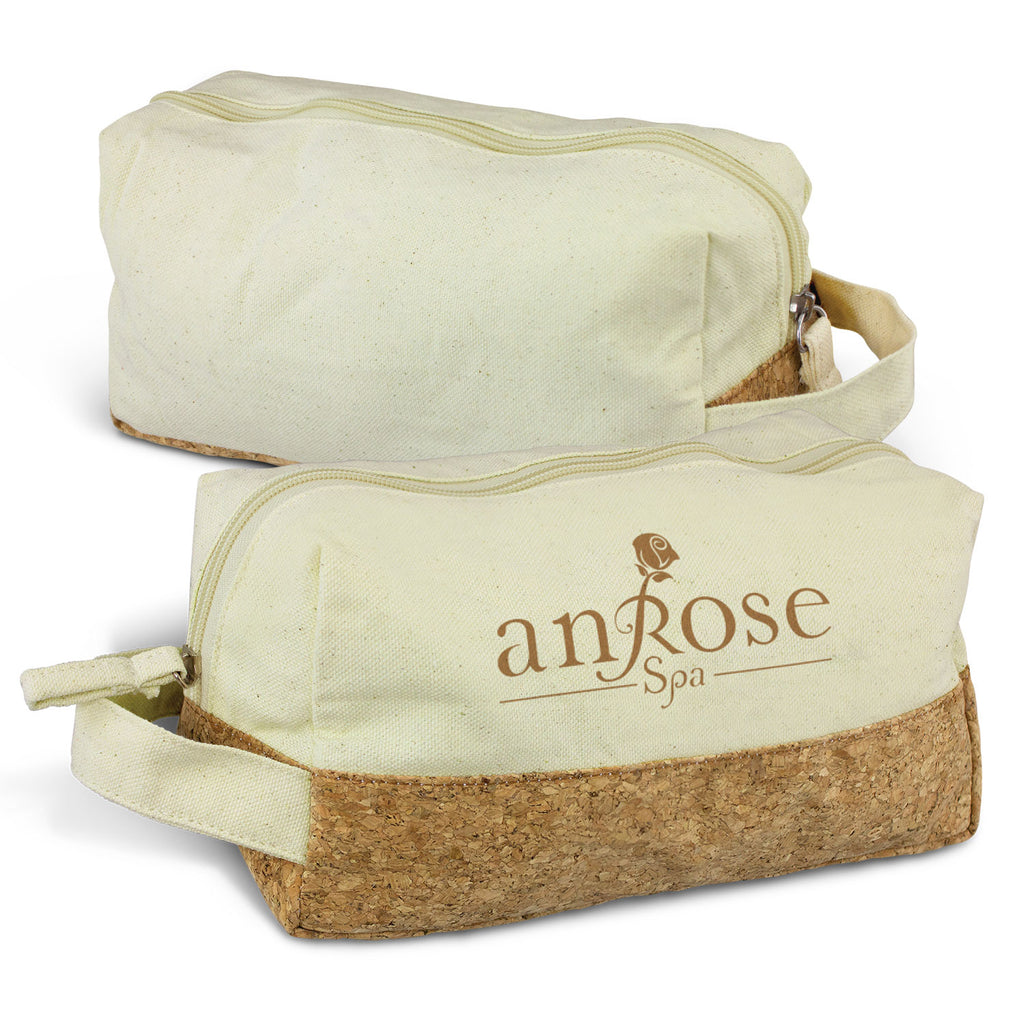 Natural Toiletry Bag with Logo Print