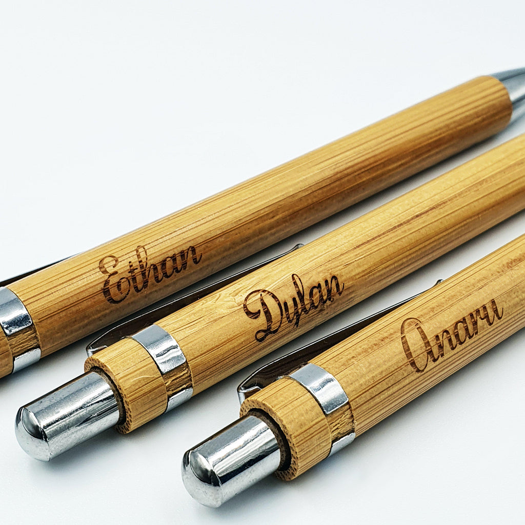 Bamboo Pen with Laser Engraved Print