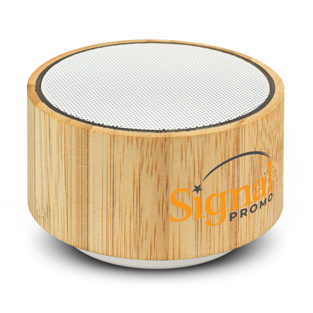 Bamboo Bluetooth Speaker with Logo Print