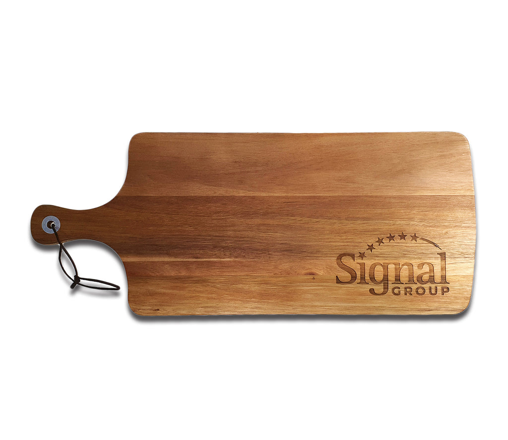 Wood Serving Board with Engraved Logo