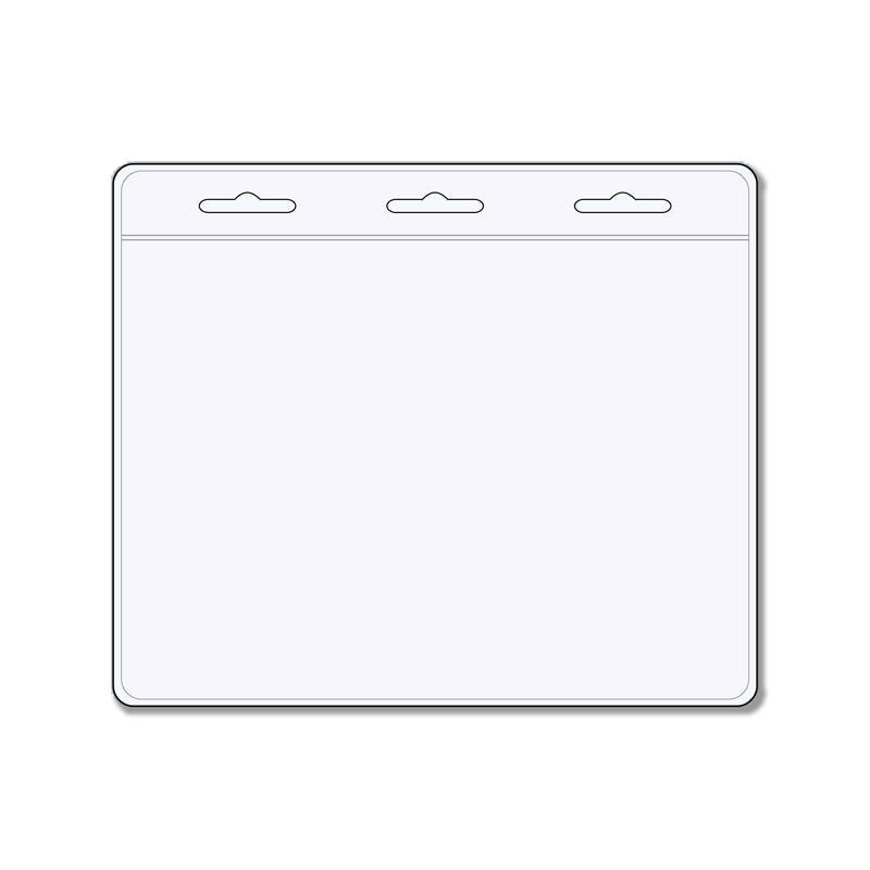 90mm x 60mm - Clear Plastic Badge Wallet Holder - 50 Pack