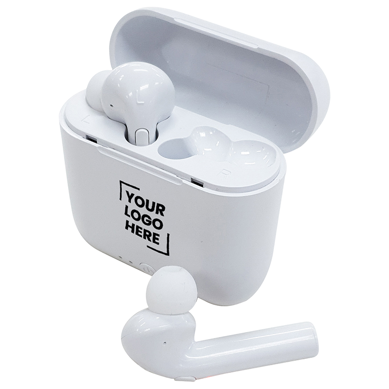 Wireless Earbuds In Case with Logo Print